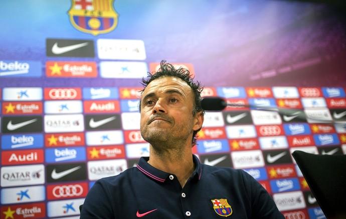 Luis Enrique, Coletiva Barcelona (Foto: Agência EFE)