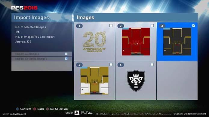 PES 2016: imagens detalham o novo modo de edição do game (Foto: Divulgação)