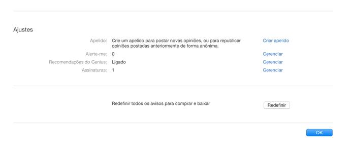 Acesse a aba Ajustes e depois Assinaturas no iTunes para Mac ou Windows (Foto: Reprodução/Apple)