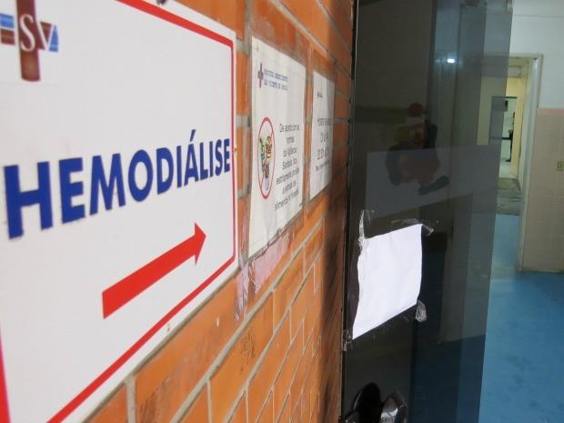 Setor de hemodiálise segue interditado no Hospital de Osório (Foto: Fábio Freitas/RBS TV)