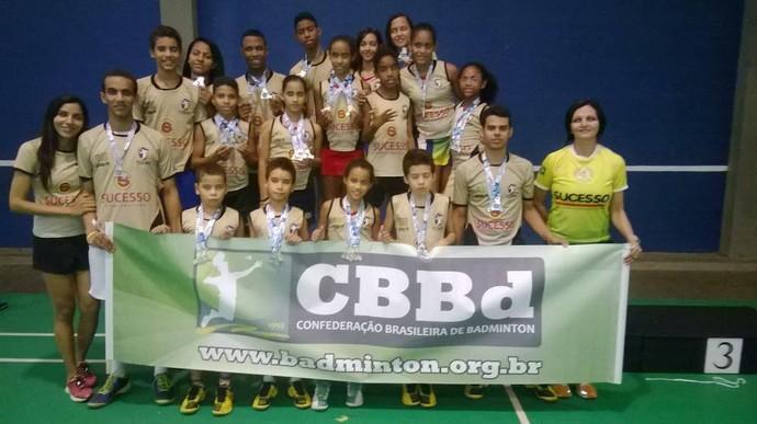 Equipe Joca Claudino na I Etapa do Nacional de Badminton 2014, em Niterói (Foto: Reprodução/Facebook)