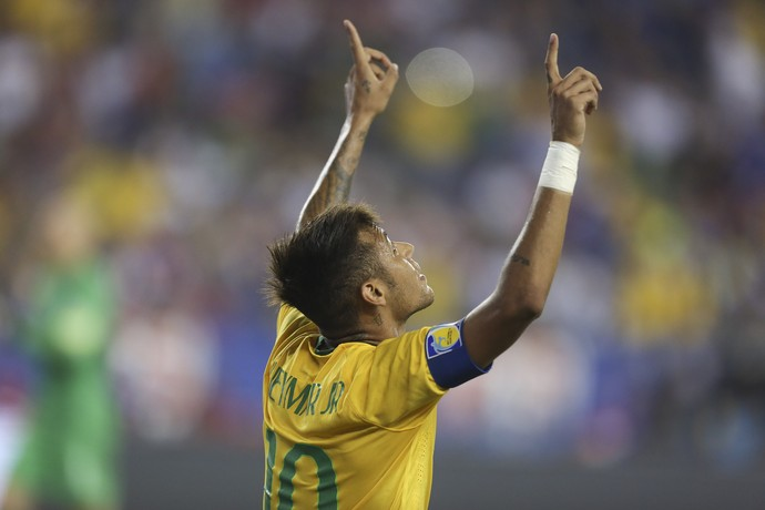 Neymar gol Brasil x Estados Unidos (Foto: Leo Correa / MoWA Press)