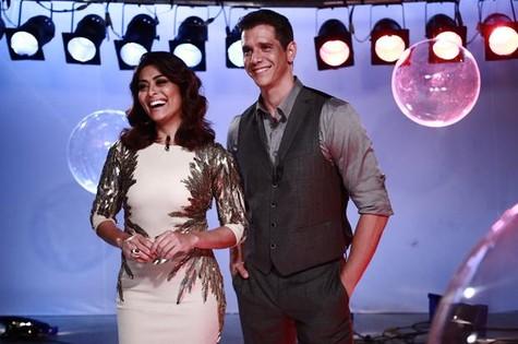 Juliana Paes e Marcio Garcia no 'Globo de ouro palco VIVA' (Foto: Babi Profeta / Viva)
