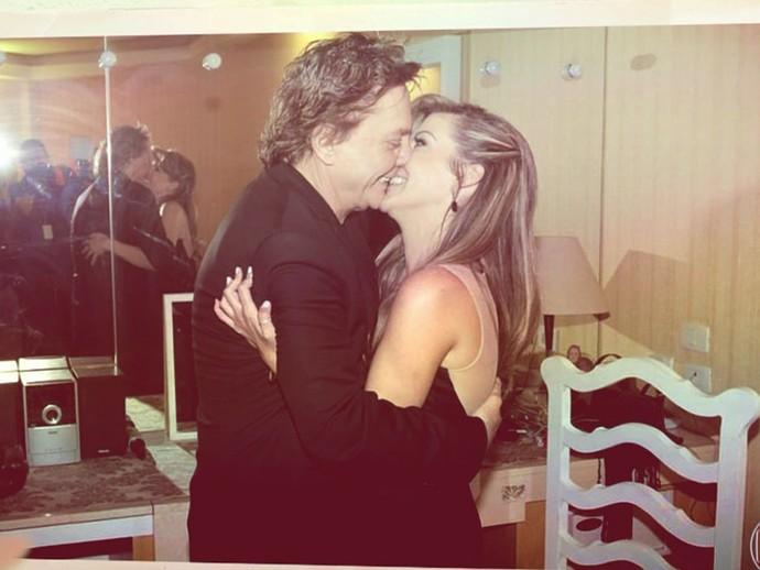 Fábio Jr. e a namorada Fernanda Pascucci (Foto: TV Globo)
