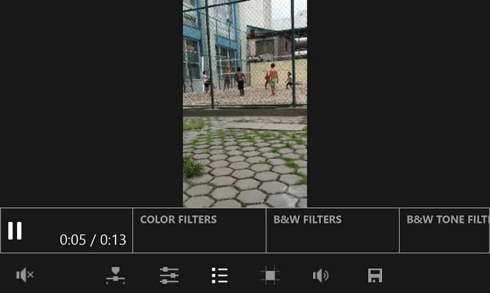 É possível adicionar filtros aos vídeos (Foto: Reprodução/Thiago Barros)
