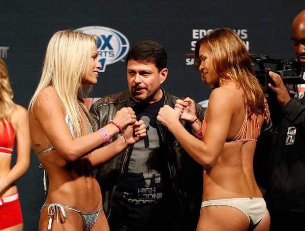Duelo de bellezas marcan el pesaje del UFC en Austin