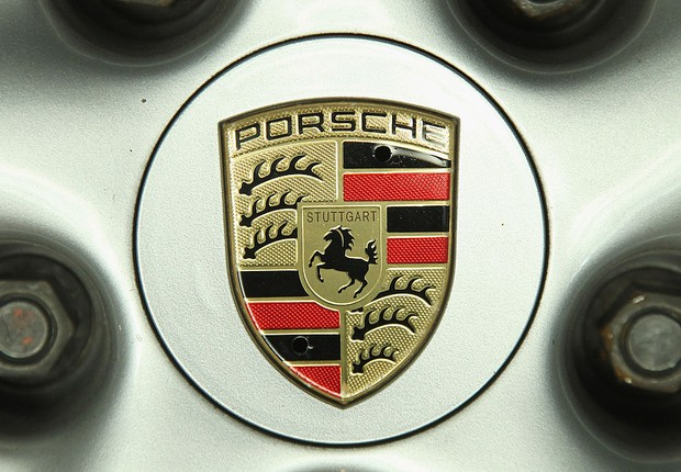 Logo da marca Porsche  (Foto: Sean Gallup/Getty Images)