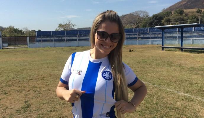Estudante, de 27 anos, garanter ter as características necessárias para ser a nova musa (Foto: Cristiane Mendes/GloboEsporte.com)