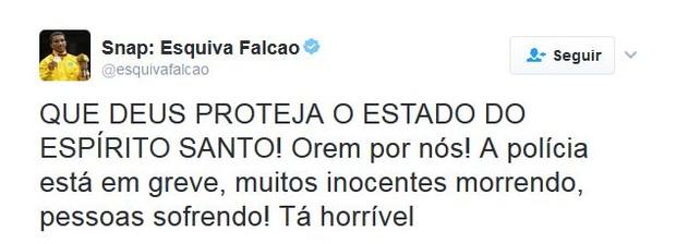 Famosos falam sobre o caos no Espírito Santo (Foto: Twitter / Reprodução)