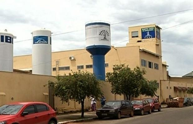 Bebê morreu ao nascer em hospital de Alexânia, Goiás (Foto: Reprodução/ TV Anhanguera)