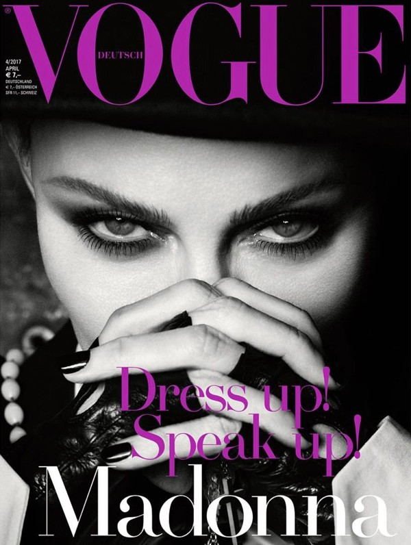 Capa de abril da Vogue alemã, Madonna aparecerá em três versões nas bancas (Foto: Reprodução)