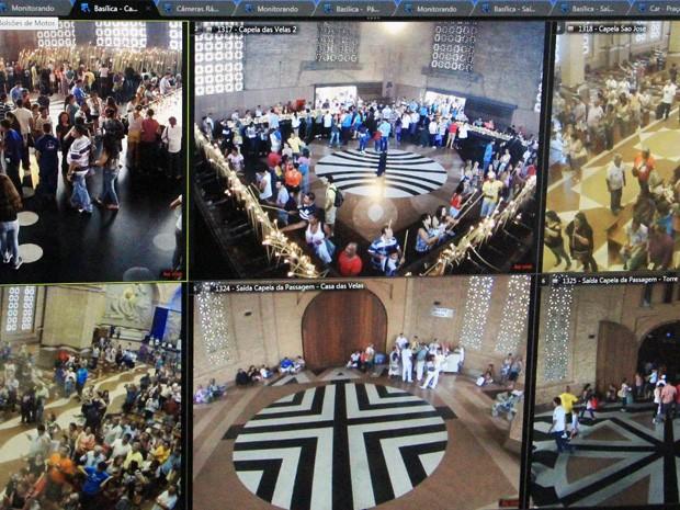 Basílica triplica número de câmeras para reforçar segurança de fiéis (Foto: Divulgação/ Santuário Nacional)