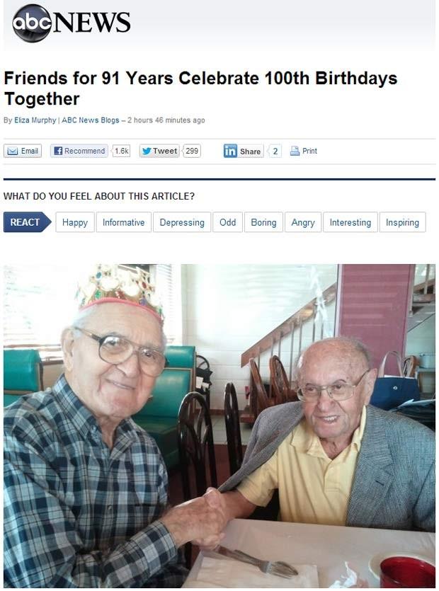 Joseph Katz e Al Spiegal durante a festa no último sábado (29), na Flórida (Foto: Reprodução)