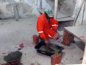 Após as rebeliões, obras recuperam estrutura de presídios (Foto: Divulgação/SIN)