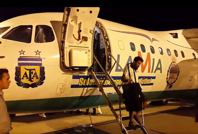 Avião Argentina Belo Horizonte (Foto: Reprodução/Twitter)