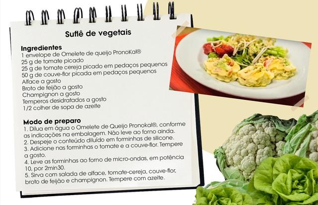 Outra receita testada e aprovada: suflê de vegetais (Foto: Arte Vogue Online)