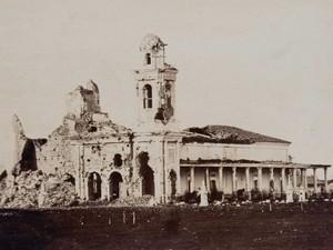 Igreja de Humaitá destruída (Foto: Fundação Biblioteca Nacional)