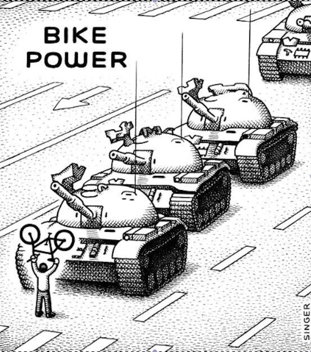 Bike Power, do cartunista Andy Singer (Foto: Reprodução/Andy Singer)