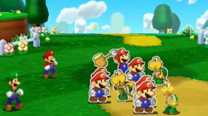 Mario & Luigi Paper Jam possui um excelente combate (Foto: Divulgação/Nintendo)