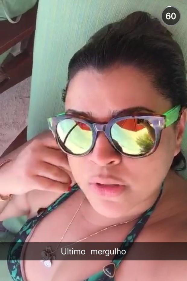 Lua de mel Preta Gil (Foto: Reprodução/ Snapchat)