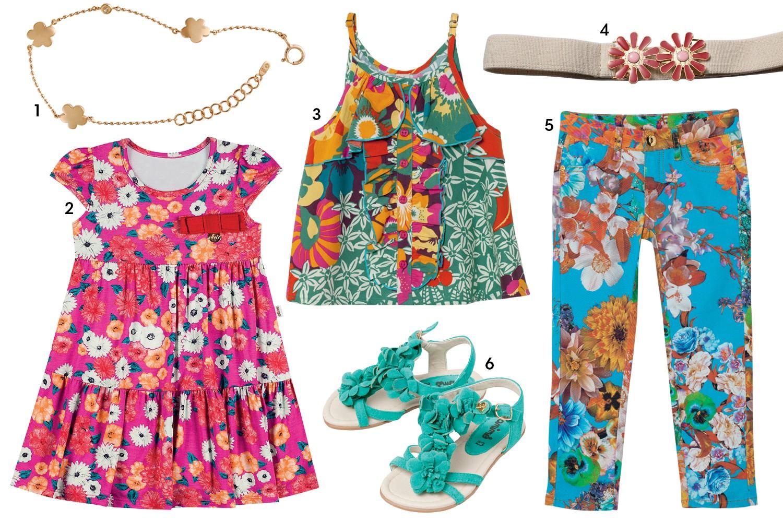 (1) Colar H.Stern, R$ 2.270; (2) vestido Elian, R$ 76; (3) regata Camu Camu, R$ 150; (4) cinto Mixed, R$ 168; (5) calça Pura Mania, R$ 210; e (6) sandália Animê, R$ 185 (Foto: Reprodução/Vogue Brasil)