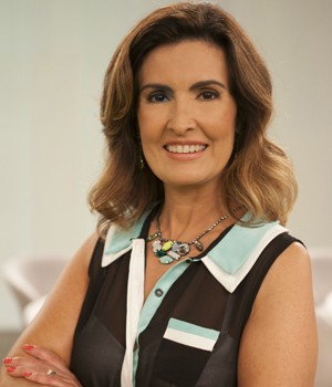 Fátima Bernardes também investe em tons básicos (Foto: Divulgação/ TV Globo)