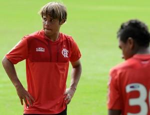 Douglas Baggio treino Flamengo (Foto: Alexandre Vidal / Fla Imagem)