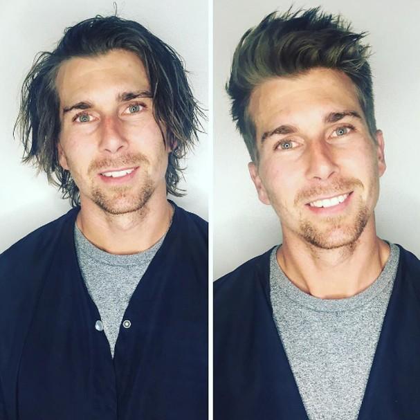 Antes e depois do cabeleireiro (Foto: Instagram/Reprodução)
