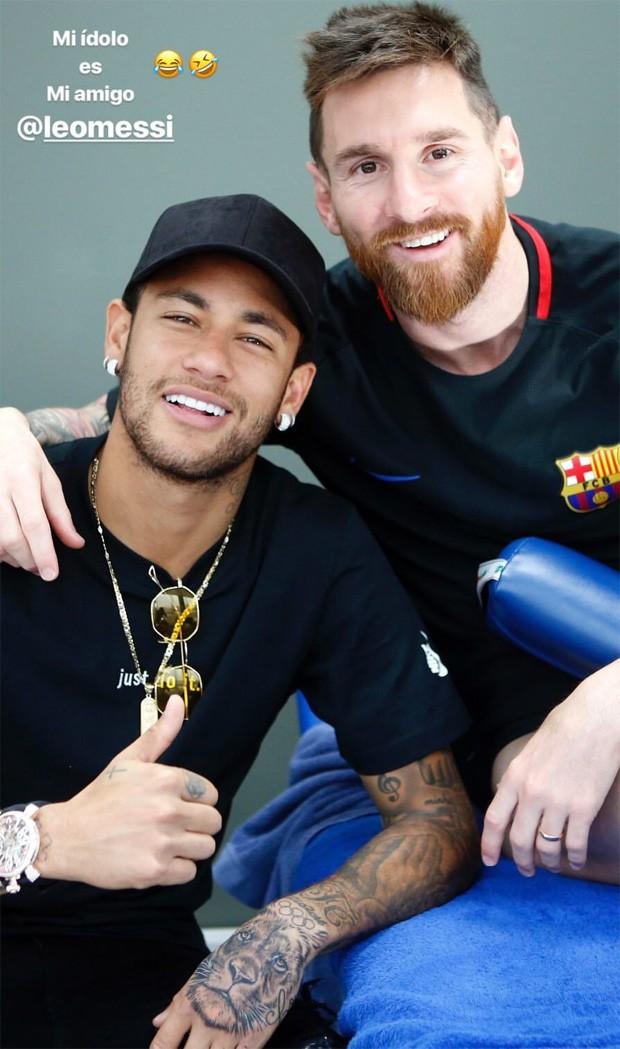 Neymar e Lionel Messi (Foto: Reprodução/Instagram)