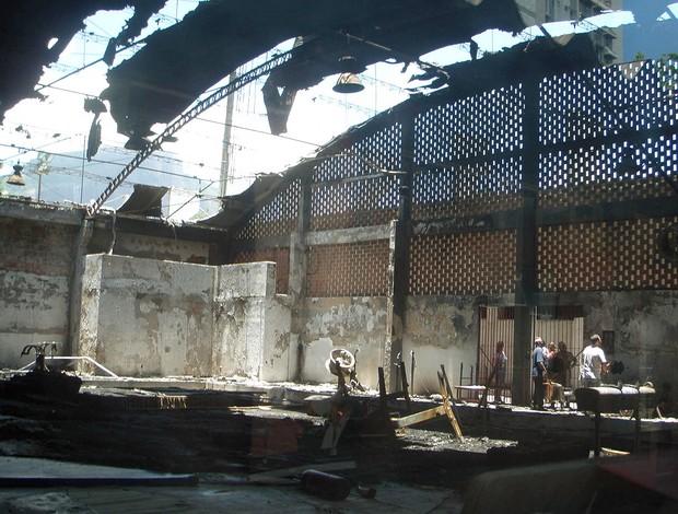 incêndio ginásio Flamengo (Foto: Nayra Halm / Photocamera)
