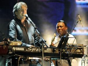 George Benson e Ivan Lins se apresentam juntos no Rock in Rio 2013 (Foto: Alexandre Durão/G1)