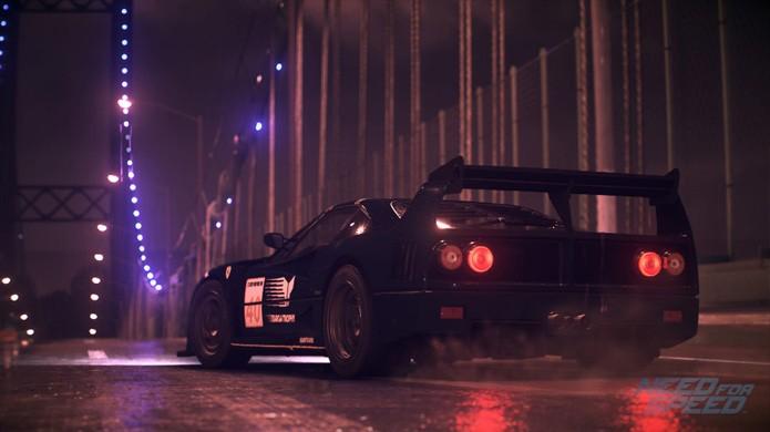 Com menos modelos da Ferrari, Need for Speed conta apenas com a clássica Ferrari F40 na foto e mais recente Ferrari 458 Italia (Foto: Divulgação/Electronic Arts)