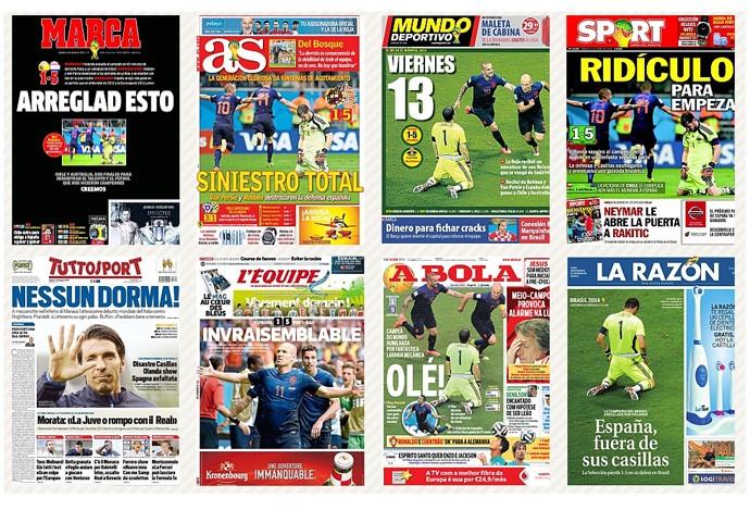 capas espanha derrota jornais copa do mundo (Foto: Reprodução )