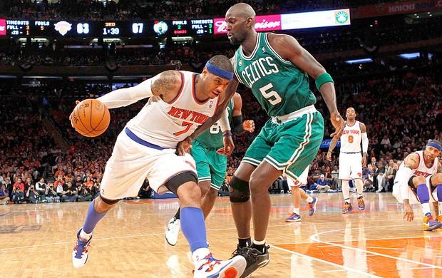 Carmelo Anthony NBA jogo Nova York Boston (Foto: Reuters)