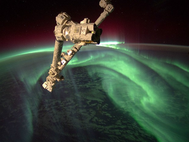 Aurora austral (Foto: Joe Acaba/Nasa/AP)