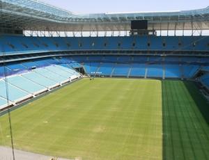 Cobertura da Arena do Grêmio está sendo finalizada (Foto: Wesley Santos/Agência PressDigital)