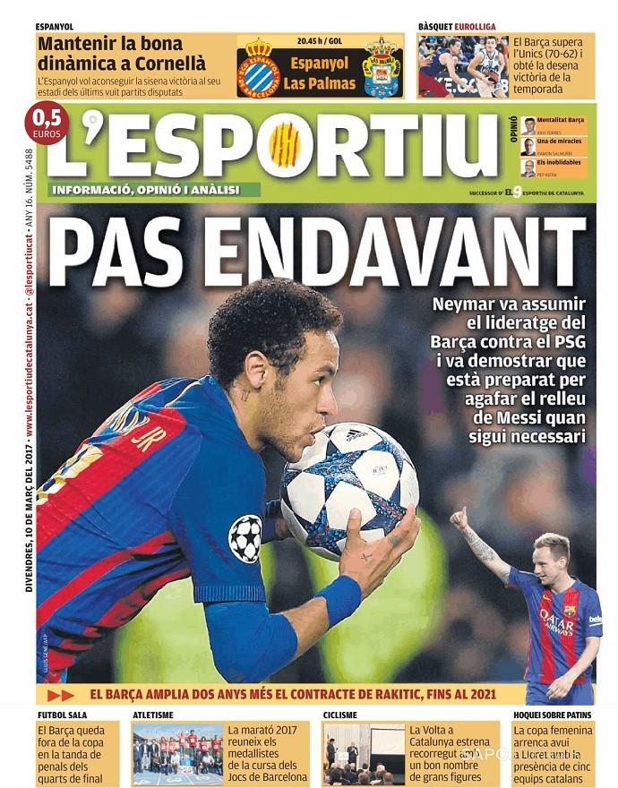 Jornal LEsportiu Neymar