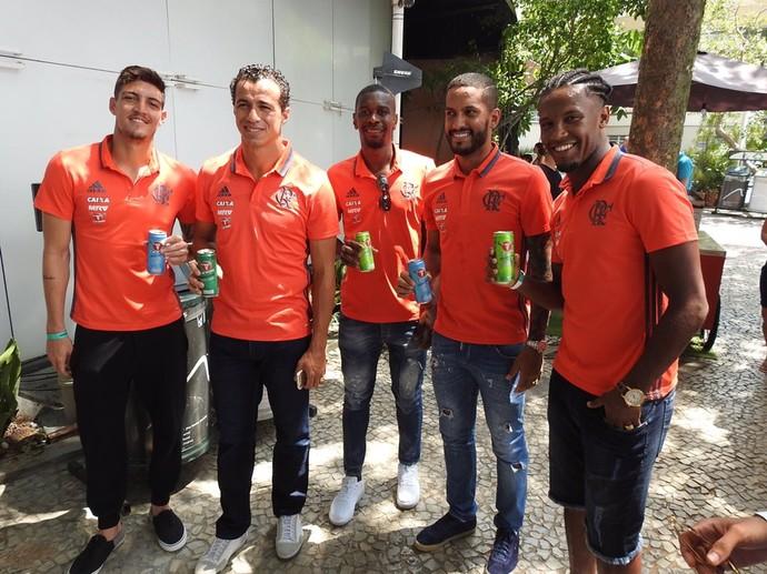 Jogadores Flamengo Carabao (Foto: Fred Gomes)