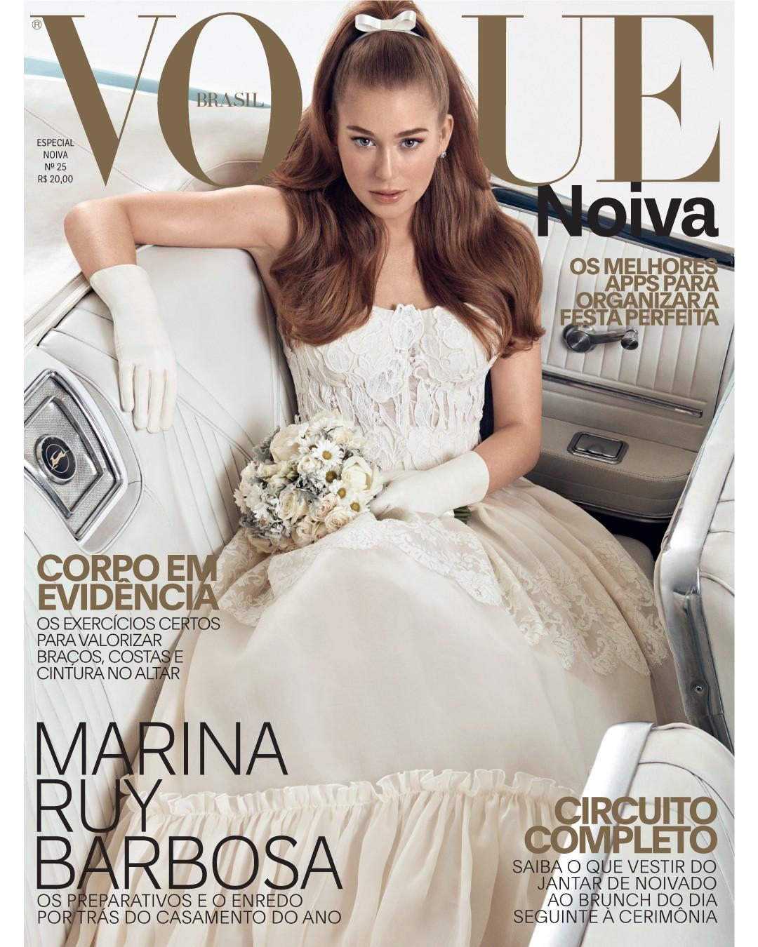 Marina Ruy Barbosa usa vestido Dolce & Gabbana, luvas B.Luxo e buquê Florinda (Foto: Gil Inoue. Styling: Alexandra Benenti e beleza de Silvio Giorgio)