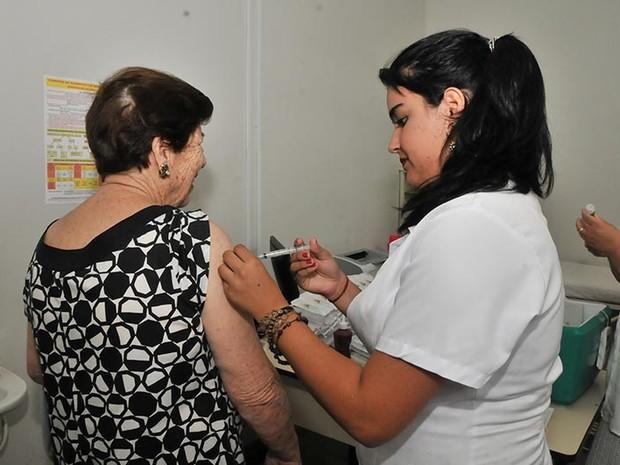 UBS's de Patrocínio oferecem a vacina contra o H1N1 para pessoas dentro do público alvo (Foto: Prefeitura de Patrocíno/Divulgação)