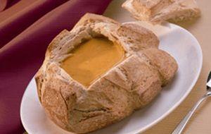 Sopa de abóbora com cream cheese