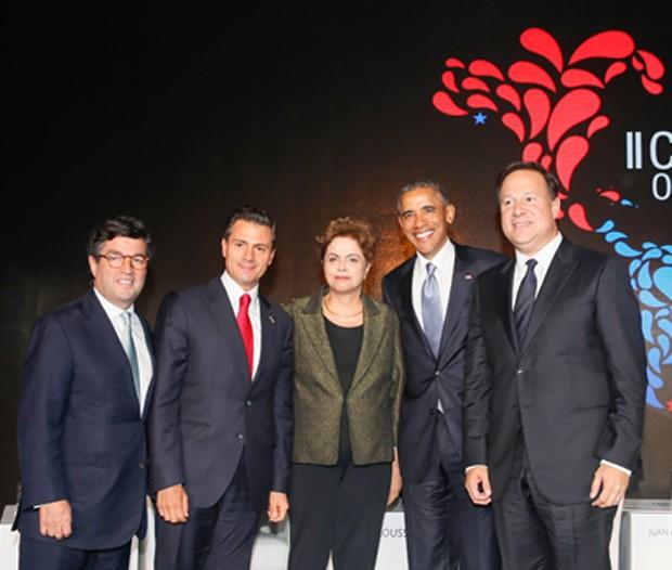 A presidente Dilma Rousseff, durante o Foro Empresarial das Américas, na VII Cúpula das Américas, no Panamá (Foto: Roberto Stuckert Filho/PR)