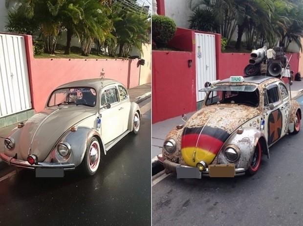 Depois de um ano, carro que poderia 'ostentar' placa preta, está enferrujado (Foto: Marcus Vinícius da Silva/ arquivo pessoal)