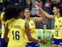 No compasso de Fabiana, Brasil leva susto, mas volta a bater dominicanas