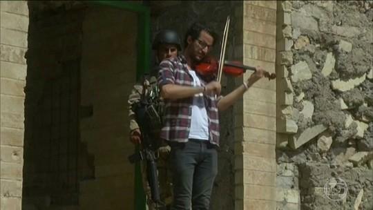 Concerto de música enche de esperança moradores de Mossul