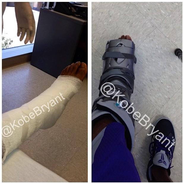 Basquete Kobe Bryant lesionado (Foto: Reprodução/Instagram)