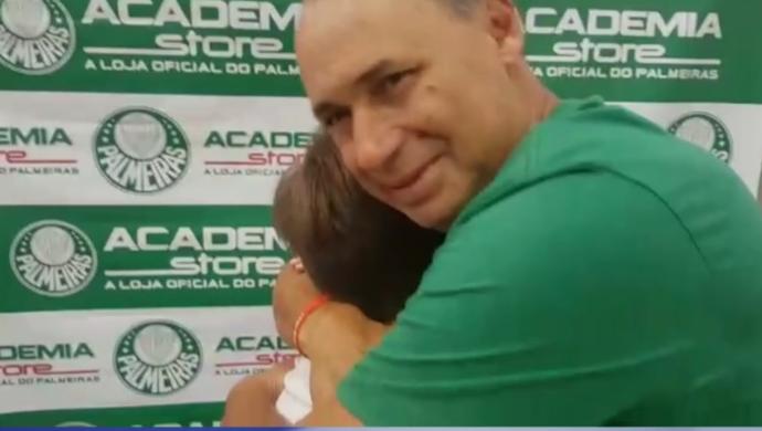 Evair e torcedor do Palmeiras (Foto: Reprodução SporTV)