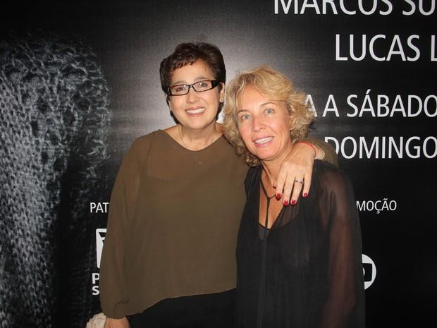 Claudia Jimenez e Stella Torreão em peça na Zona Sul do Rio (Foto: Anderson Borde/ Ag. News)