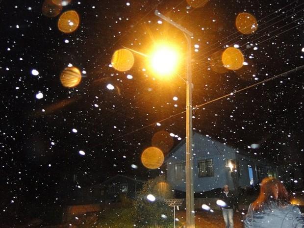 Neve chegou a São Joaquim (Foto: Agência de Notícias São Joaquim Online)