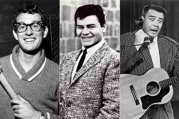 Buddy Holly, Ritchie Valens e The Big Bopper (Foto: Reprodução/Divulgação)